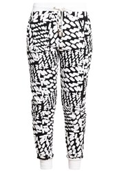 Ivy Revel Queen Tracksuit Bottoms White Black