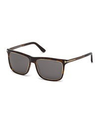 Tom Ford Classic Square Sunglasses Rose Gold Brown