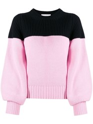 Alexander Mcqueen Cashmere Two Tone Jumper Pink