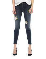 Hudson Jeans Nico Floral Embroidered Confronted
