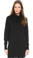 Dkny Cowl Neck Long Sleeve Tunic Black