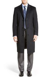 Men's Hart Schaffner Marx 'Sheffield' Classic Fit Wool And Cashmere Overcoat Charcoal