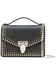 Philipp Plein Medium Tote With Studs Women Leather Suede Metal One Size Black