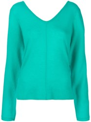 Max And Moi Shoulder Slit Jumper Blue