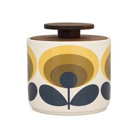 Orla Kiely '70S Flower Storage Jar Yellow