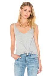 Velvet By Graham And Spencer Emmalee Cotton Slub V Neck Tank Grey