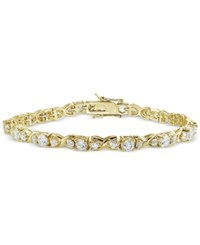 Giani Bernini Cubic Zirconia Boxed Infinity Tennis Bracelet In 18K Gold Plated Sterling Silver