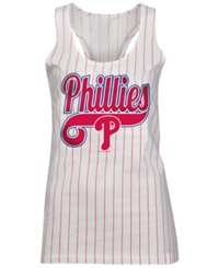 5Th And Ocean Women's Philadelphia Phillies Opening Night Tank Top White