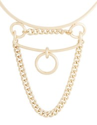 Bcbgmaxazria Loop Chain Collar Necklace Gold