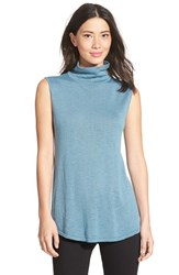 Petite Women's Nic Zoe Everyday Turtleneck Top Stone Blue Mix