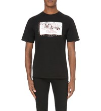 Crooks And Castles Ski Target Graphic Print Cotton T Shirt Black