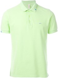 Sun 68 Logo Polo Shirt Green