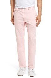 Bonobos Men's Slim Fit Washed Stretch Cotton Chinos Faded Flamingo