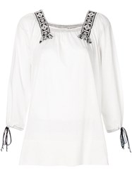 Dorothee Schumacher Woven Trim Blouse Nude And Neutrals