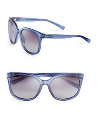 Calvin Klein 57Mm Square Sunglasses Navy Blue