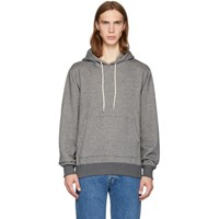 Naked And Famous Denim Ssnese Exclusive Grey Cotton Hoodie