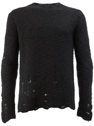 Song For The Mute Distressed Jumper Wool Alpaca Black