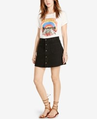 Denim And Supply Ralph Lauren Button Front Denim Skirt Emilie
