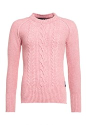 Superdry Cable Crew Jumper Pink