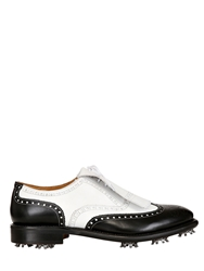 Fratelli Borgioli Water Resistant Golf Lace Up Shoes Black White