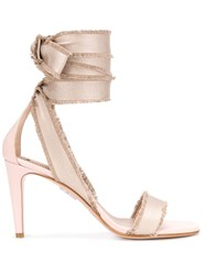 Red Valentino Lace Up Ankle Detail 95Mm Sandals 60