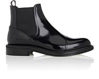 Loewe Men's Cap Toe Spazzolato Leather Chelsea Boots Black