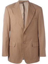 Dolce And Gabbana Vintage Peaked Lapel Blazer Brown