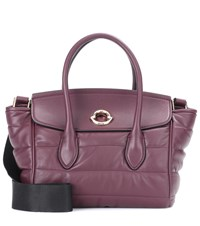 Moncler Evera Leather Tote Bag Purple