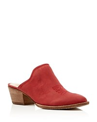 Dolce Vita Shiloh Western Pointed Toe Mules Red
