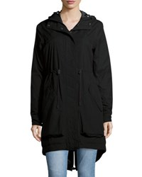 Hunter Long Sleeve Hooded Parka Waterproof Jacket Black