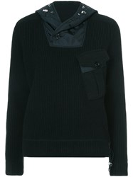 Ralph Lauren Collection Ribbed Hoodie Cashmere Black