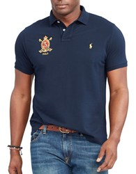 Polo Big And Tall Feather Weight Short Sleeve Shirt Blue