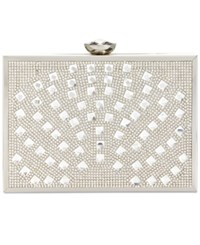Inc International Concepts Large Clutch Only At Macy's Silver