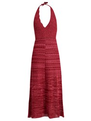 Rachel Comey Teddy Crochet Cotton Halterneck Dress Pink Multi