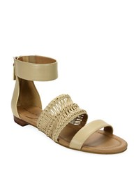 Tahari Dorm Ankle Strap Sandals Dove
