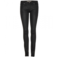 Burberry Coated Skinny Jeans Black