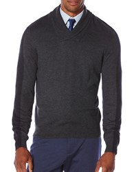 Perry Ellis Regular Fit Color Block Pullover Charcoal Heather