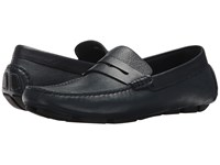 Canali Penny Driver Blue Slip On Shoes