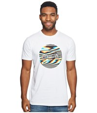 Rvca Motors Fill Tee White Men's T Shirt