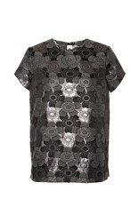 Gem Shirley Jacquard Top Silver