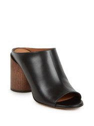 Givenchy Edgy Line Low Leather Cylinder Heel Booties Black Brown