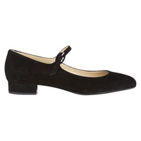Hobbs Tess Mary Jane Block Heel Pumps Black Suede