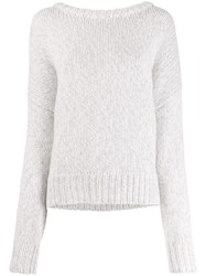 N.Peal Cashmere Oversized Fit Jumper White