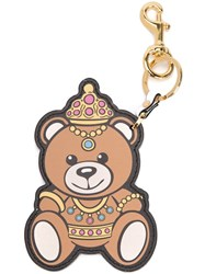 Moschino Crowned Teddy Bear Keyring Brown