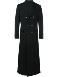 Juun.J Double Breasted Coat Black