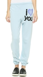 Freecity Love You Super Beat Sweatpants Soft Blue