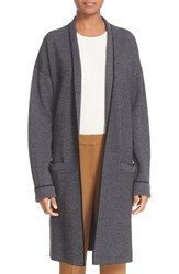 Theory Women's 'Armelle J Evian' Drape Front Wool Blend Sweater Coat