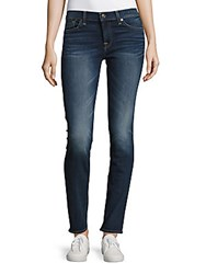 7 For All Mankind Roxanne Whiskered Ankle Length Jeans Blue