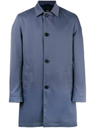 Hugo Boss Button Up Raincoat Blue