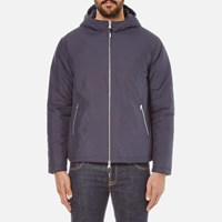 Folk Men's Zipped Hooded Jacket Navy